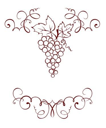 vine leaves: Frame -- Grape decoration