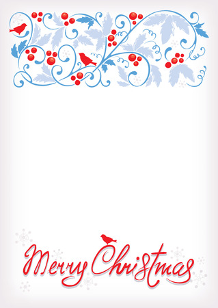 Gentle Christmas background Vector