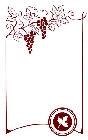 Design element - frame with vine Vector Illustration