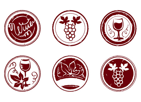 Design elements -- grape stamps Vector