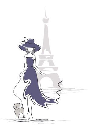 yürüyüş: Paris'te bir şapka Lady