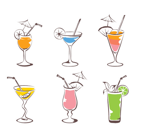 Set - cocktail Vector