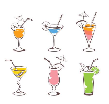 martini glass: Set - cocktail
