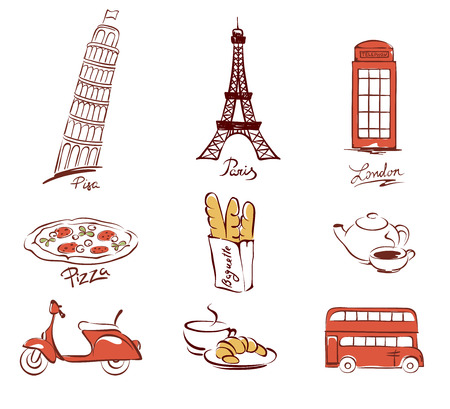 european cities: Symbols of European cities