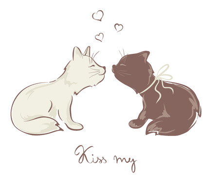 purr: Funny kissing cats
