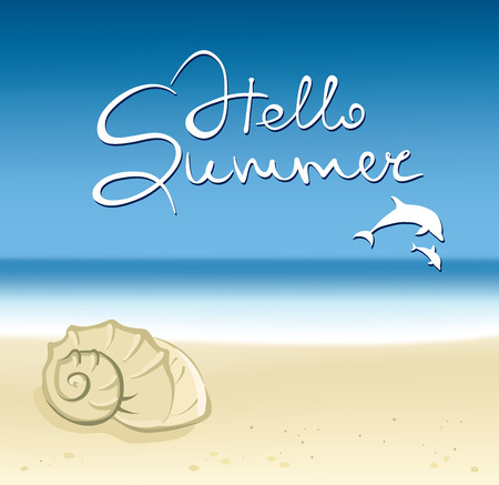 Background -- shell on beach Vector