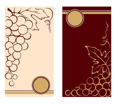 Patterns for wine labels Vector
