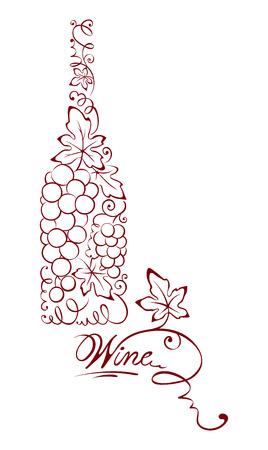Illustration -- abstract wine bottle
