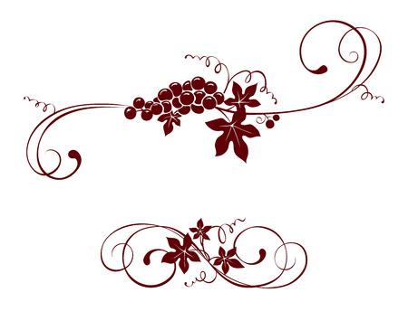 Elemento de diseño Vintage - uva