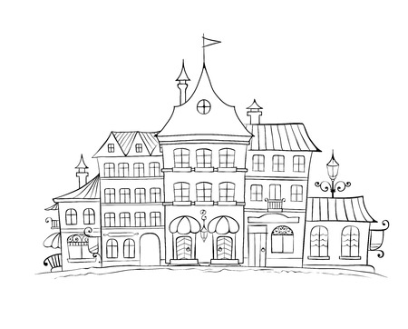 The Funny Old City of Poland Vector