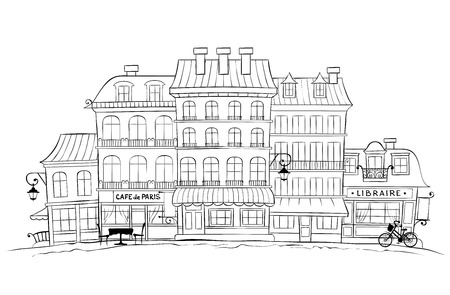 The Funny Old City -- Paris Illustration