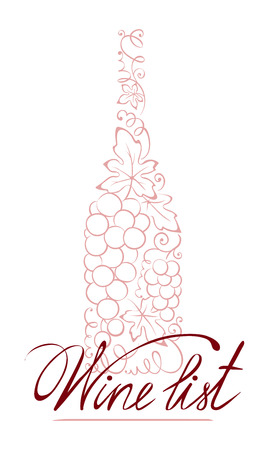 Illustration -- abstract floral wine bottle Vector
