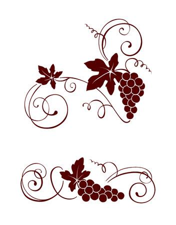 Design-Element - Wein mit Strudeln