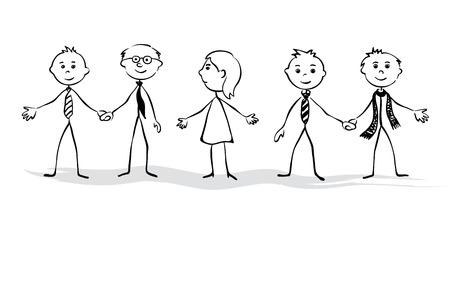 Women s and men s team Illustration