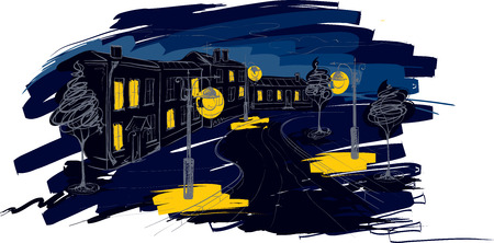 galicia: Illustration -- Old City of night