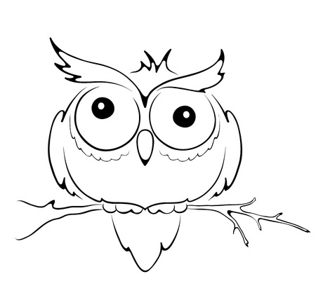 Graphic illustration of funny owl
