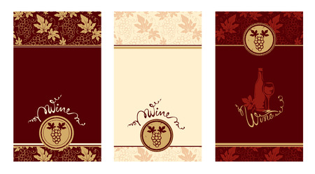 Three templates for wine labels