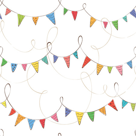 Festive background with flags Vector