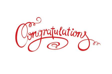 Calligraphic inscription - Congratulations Vector
