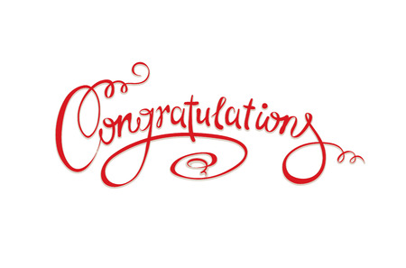 congratulations word: Calligraphic inscription - Congratulations