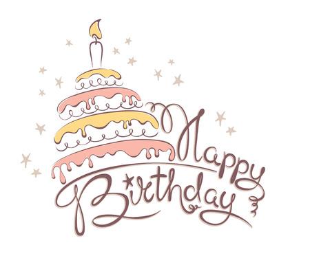 abstract illustration: Illustrazione astratta - torta di compleanno & Vettoriali
