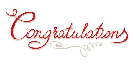 Title - congratulations Vettoriali