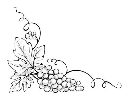 花飾りのコーナー  イラスト・ベクター素材