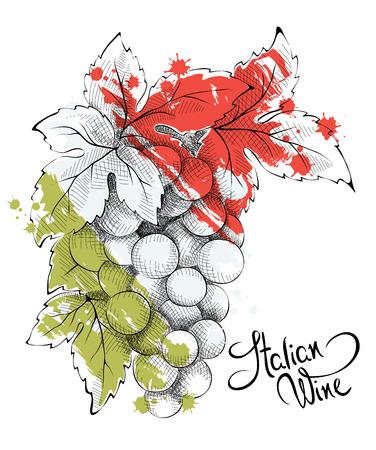 추상 그림 - 이탈리아 와인