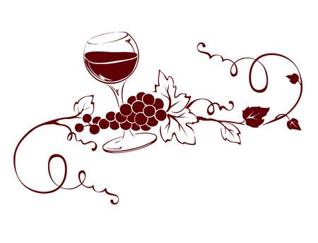 title: Vector design element -- Wine title