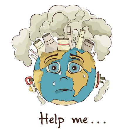 Illustration - crying Earth