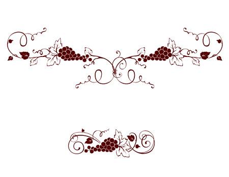 uvas: Conjunto de elementos de diseño - uva Vectores
