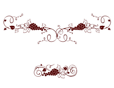 Set of design elements -- grape Vector