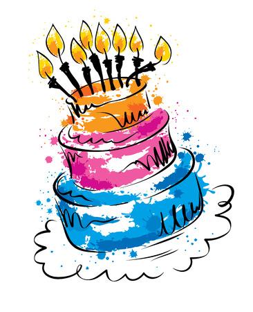fiesta: Vector illustration -- funny cake