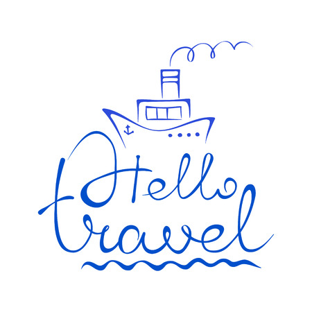 Emblem  sea and travel Vector