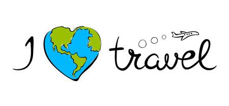 Emblem sea and travelvector illustration