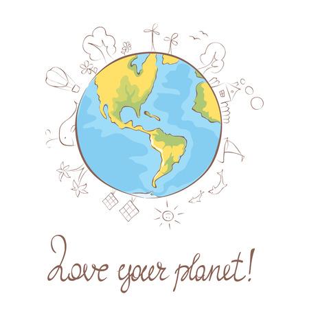 the blue planet: Illustration  My favorite blue planet