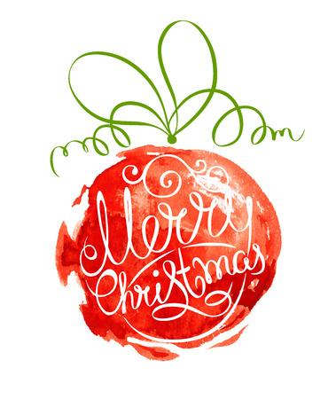 Abstract vector illustration  Christmas ball  イラスト・ベクター素材