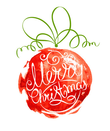 Abstract vector illustration  Christmas ball Stock Illustratie