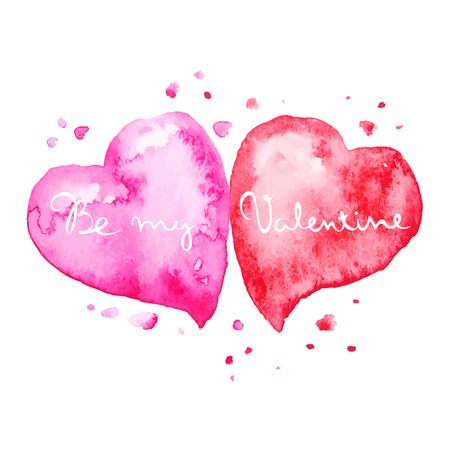 Vector background on Valentines Day  two heart