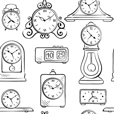 old wallpaper: Background, wallpaper - clock in retro style