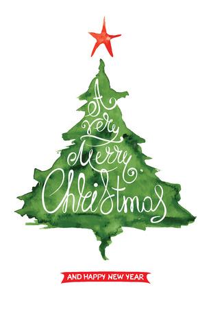 pintura abstracta: Fondo de la Navidad, postal - Resumen �rbol de Navidad