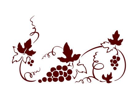 hojas parra: elemento de dise�o, frontera - vid. Ilustraci�n gr�fica.