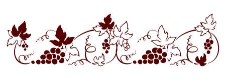 vine border: Design element, border -- vine. Graphic illustration