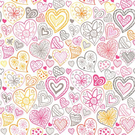 corazon: patrón de día de San Valentín con el corazón