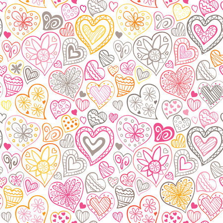 heart pattern: Valentines day pattern with heart