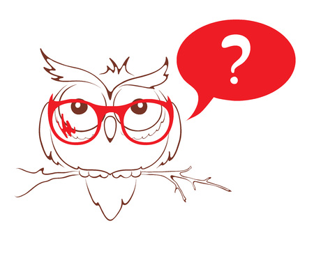 owl illustration: illustration -- Smart, academic owl