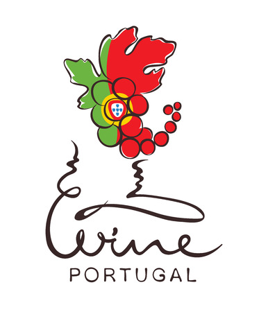 portugal: Abstract illustration,  sign -- wine from Portugal