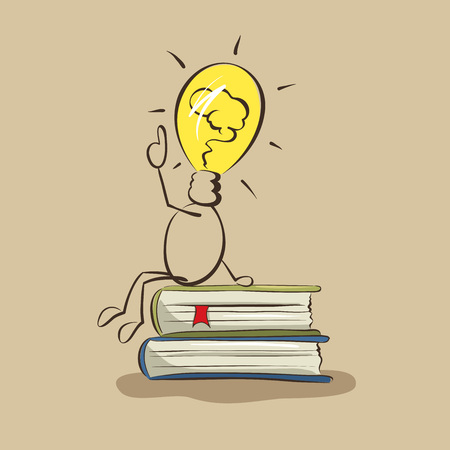 new idea: I have an idea!  Graphic illustration on theme of new ideas and new business Illustration