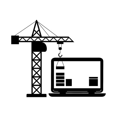 web site: Graphic illustration - construction Web site