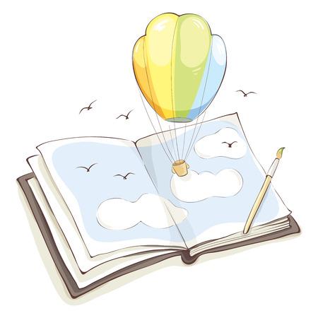 balloon animals: Bright impressionIllustration on the theme of creativity and imagination